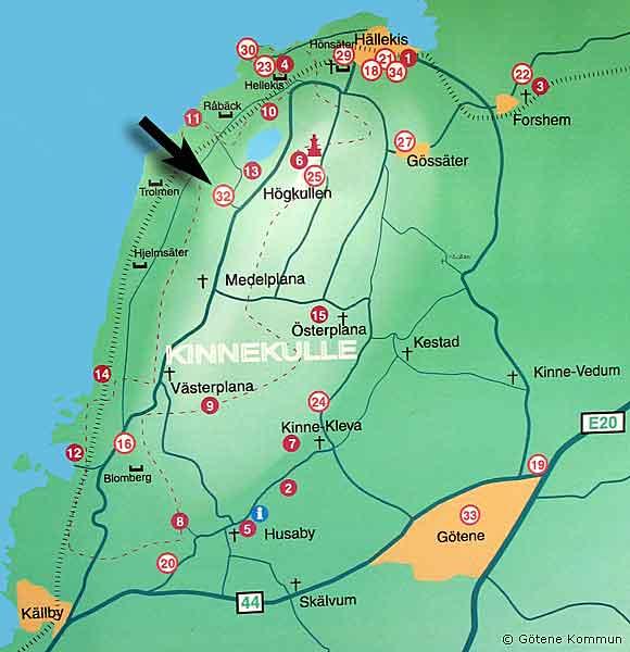 munkängarna karta Medelplanagården   Kinnekulle munkängarna karta